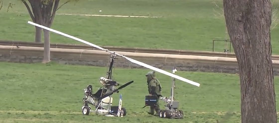 Mailman Gyrocopter Landed in Capitol US